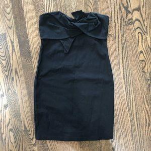 Le Lis Black Strapless Bodycon Tube Top Mini Dress
